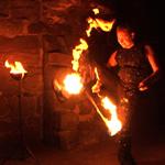 Wirbelnde Flammen